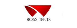 logo of bosstents website whose SEO has done by TopSeoCompany